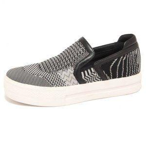 Ash - Jeday Marble Black Slide On Sneakers - 8.5